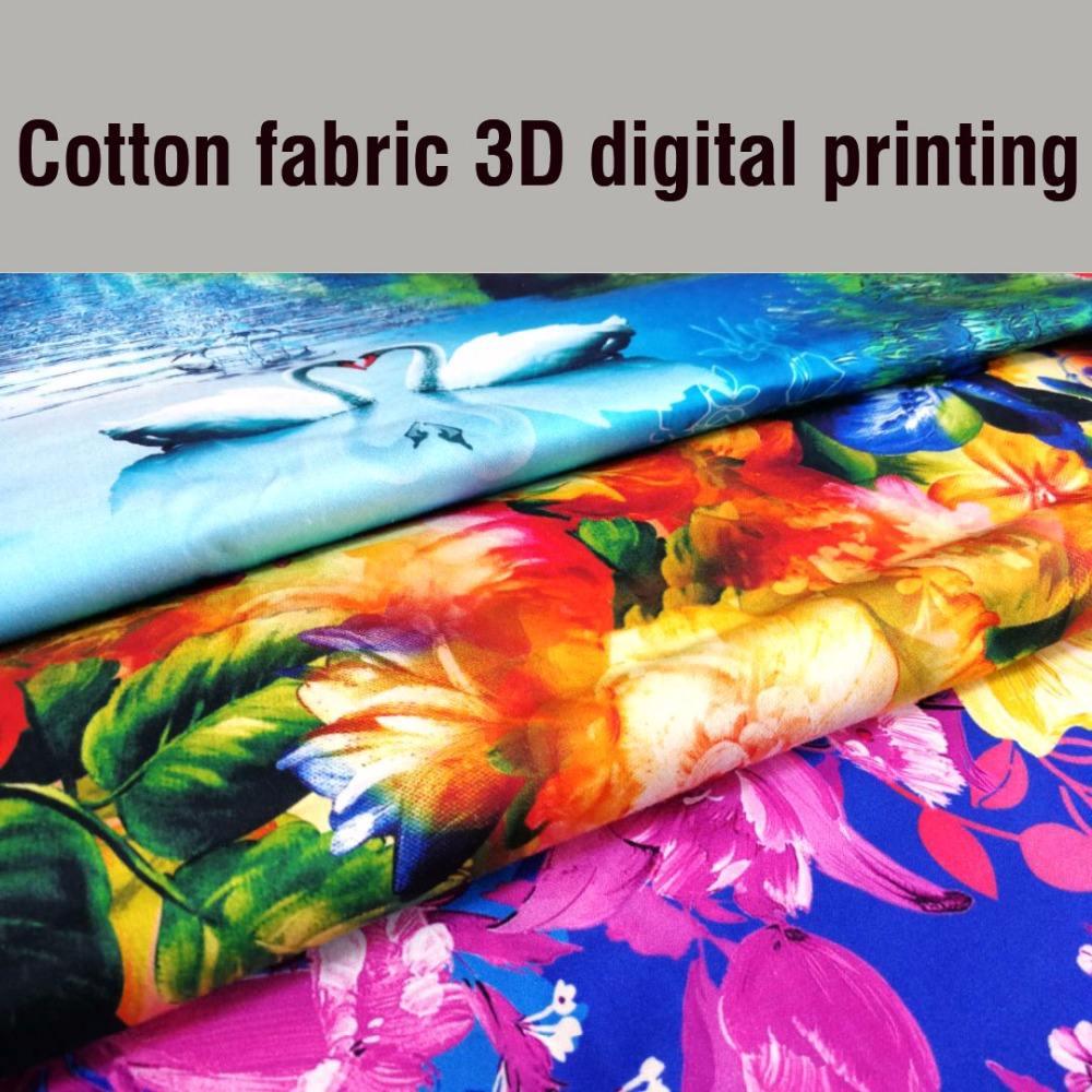 Personalizado Design 100% Algodão Tecido de Impressão Digital 3D, Tecido de algodão Para Casa Têxtil