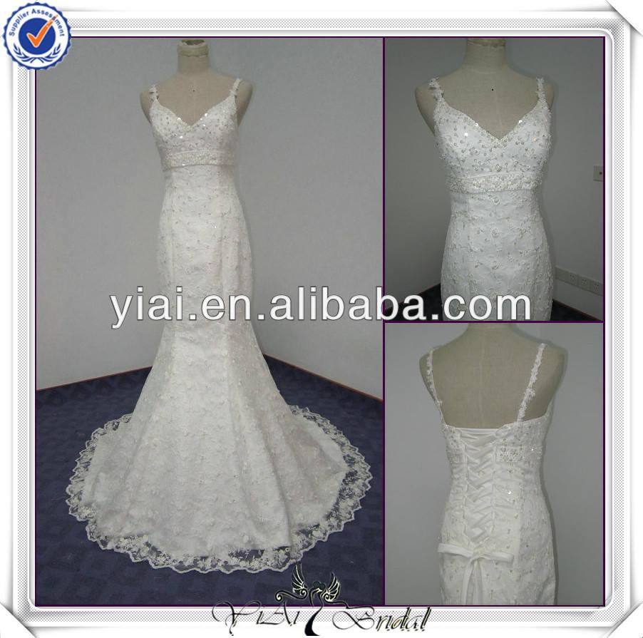 2011 lovely design transporte livre alta qualidade elgent rendas strapless casamento vestido sereia jj2377