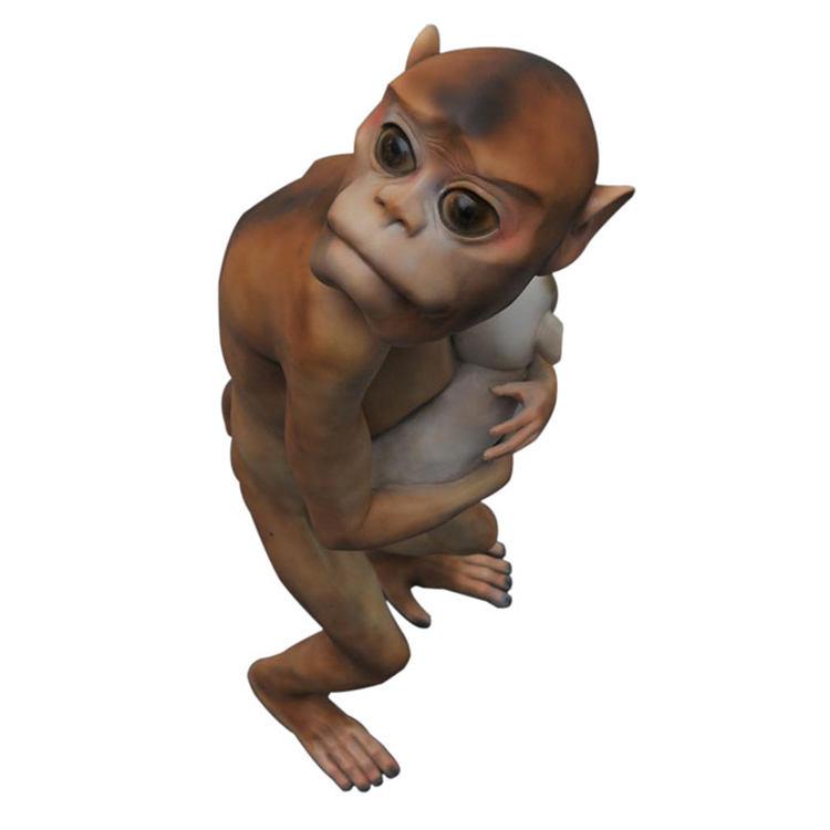 Modern el sanatları döküm bakır maymun ve <span class=keywords><strong>köpek</strong></span> <span class=keywords><strong>bronz</strong></span> hayvan <span class=keywords><strong>heykel</strong></span>