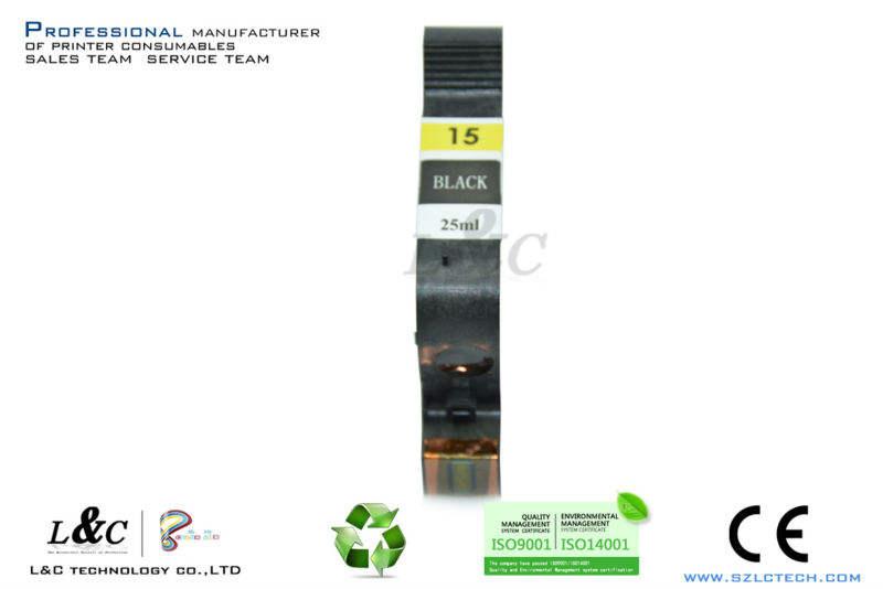 Buen precio de inyección de tinta para el cartucho de recarga máquinas hp c6615d/#15