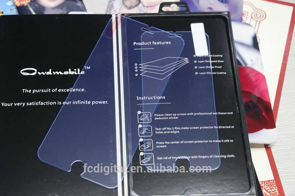 Nuovo prodotto full size vetro temperato protezione dello schermo con anti- luce blu per iPhone 6 0,26 millimetri