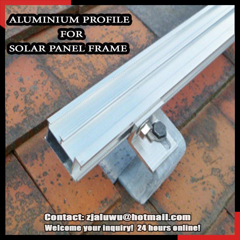 Alumínio do painel solar quadro/liga de alumínio perfil de moldura do painel solar/liga de alumínio da extrusão do perfil