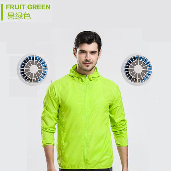 Summer Multicolor optional Sunscreen clothing Air Condition Shirts with fan cooling vest 7.4V output