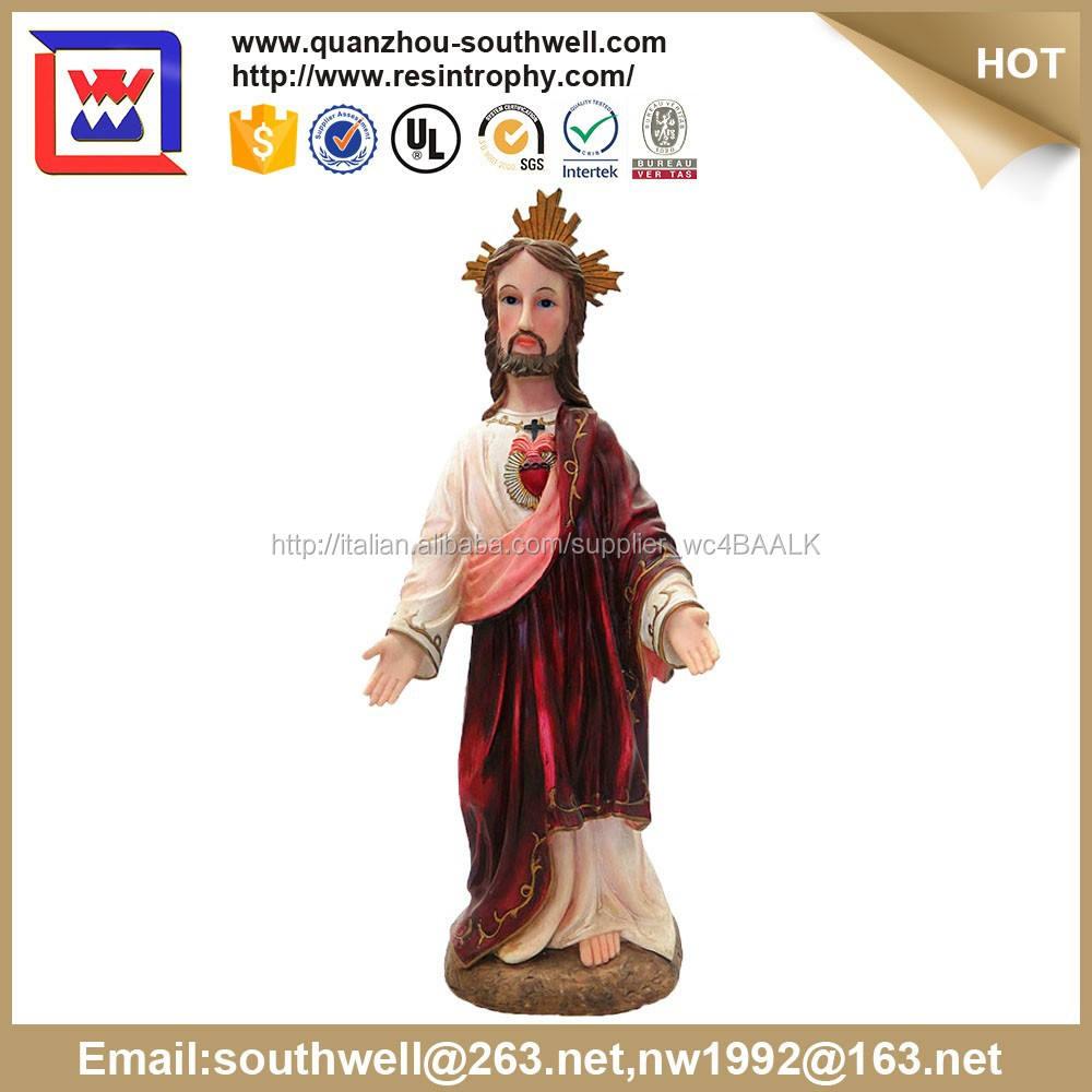 Personalizzati statue religiose all'ingrosso e religioso in resina figurine <span class=keywords><strong>gesù</strong></span> e <span class=keywords><strong>Gesù</strong></span> statua per decorazione della chiesa