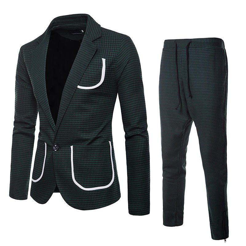 Fatos de homem para o casamento Partido Negócio Fino Terno Blazer Calças Casaco terno dos homens com calças ternos homens blazer