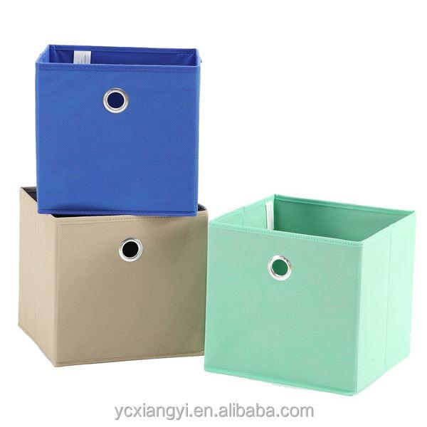 Décoratif carton tiroir de stockage en plein air bin walmart tissu pliable de stockage bacs avec oeillet