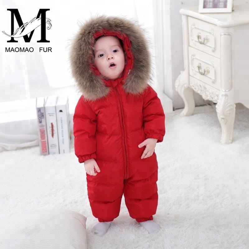 теплая зимняя одежда ребенок сиамские вниз пальто куртки с меховым воротником модная детская детское пуховое пальто