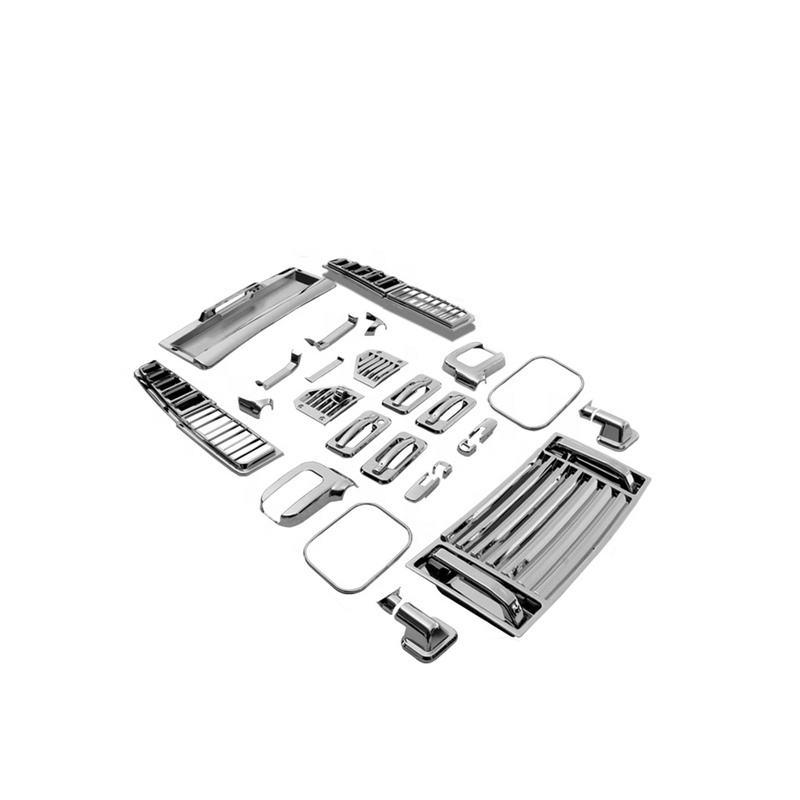 Extérieur de haute Qualité DE Chrome D'ABS D'accessoires Lampe Garniture Ensembles Complets Pour Hummer H2 2006-Sur