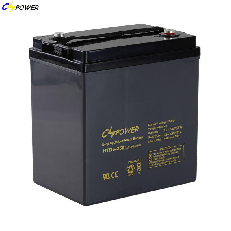 6 Volts 250 Ah Scellé Plomb-Acide/AGM Batterie
