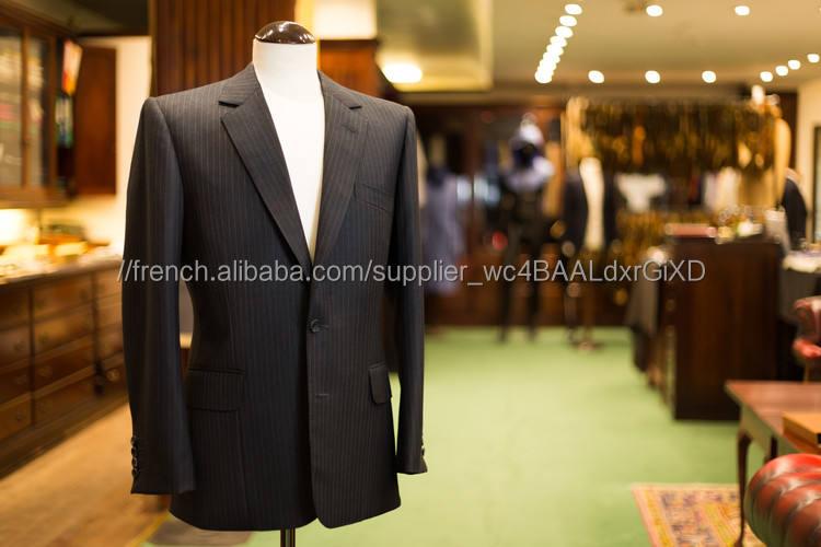 Professionnel de mode sur mesure super 120 s costume de laine hommes d'affaires costume
