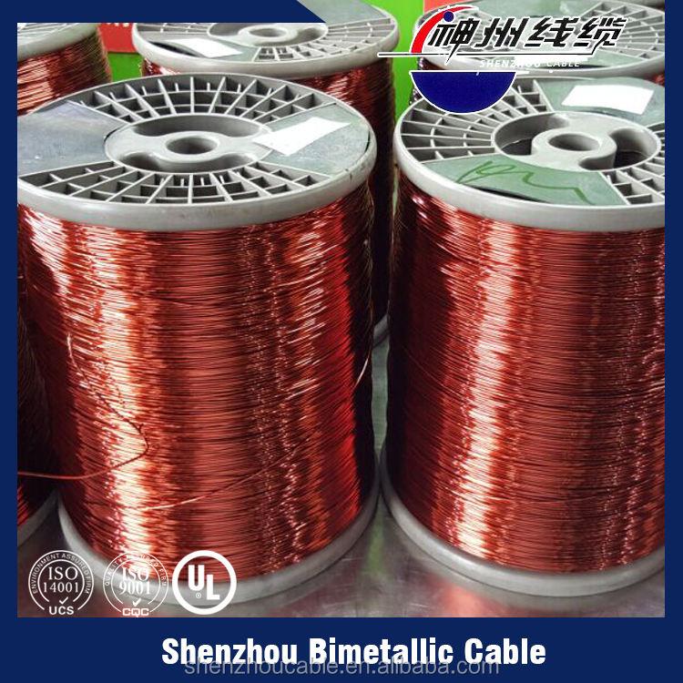 Por mayor de China cornsilk cobre esmaltado alambre de aluminio revestido