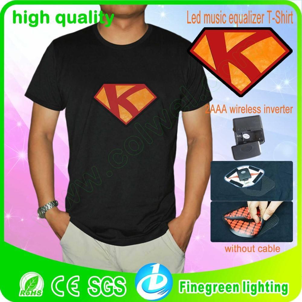 El encargo t- shirt con el sonido activado del inversor