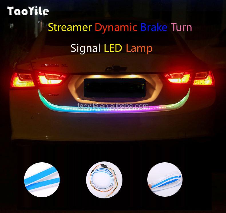 Voiture Qui Coule Led Flexible Bande Camion Queue Boîte Lumière RGB Tube Arrière De Frein Signal Lumineux de Tour