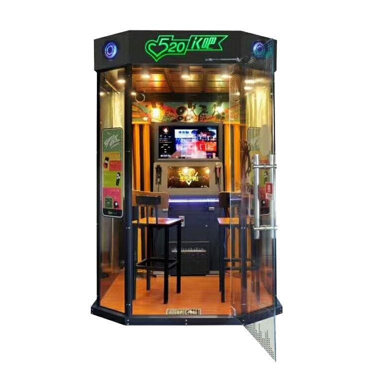 Chenshou cantar karaoke máquina de diversões game machine 2 jogador mini auto-ajuda sala de karaoke