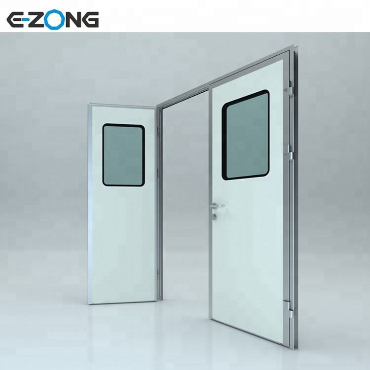 GMP cumplimiento sala limpia Metal Flush puertas batientes para alimentos o farmacéutica