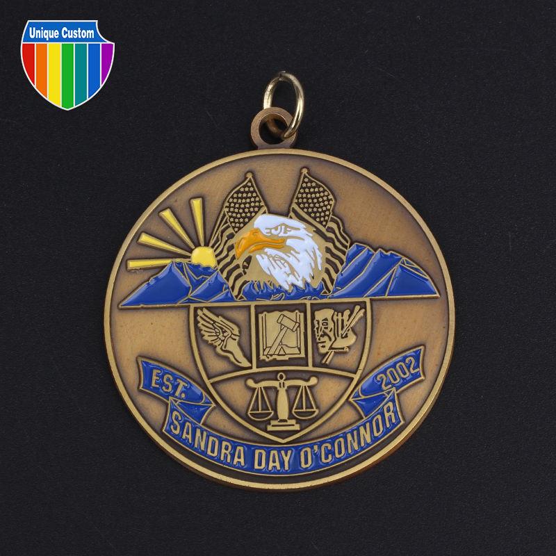 Personalizado Antigua Fiesta de Aniversario de la Concesión de <span class=keywords><strong>Latón</strong></span> de <span class=keywords><strong>Bronce</strong></span> Medalla de Premio