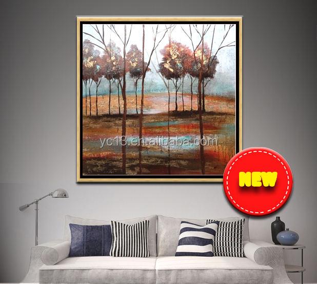 Vente chaude sexe fille image inde nude art arbre moderne toile peinture à l'huile