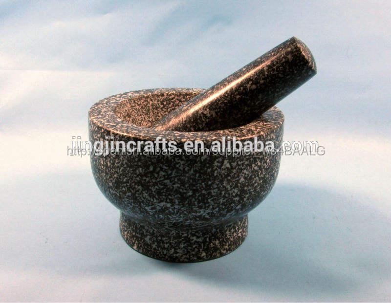 Rectificado fino de granito mortero y maja con diseño único