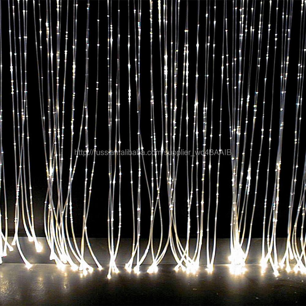 Ясно пвх пальто искры оптоволоконный излучающих свет для chandeler