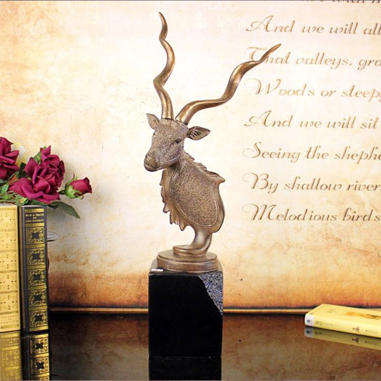 Fábrica custom made melhor casa <span class=keywords><strong>decoração</strong></span> dom resina natural antelope cabeça
