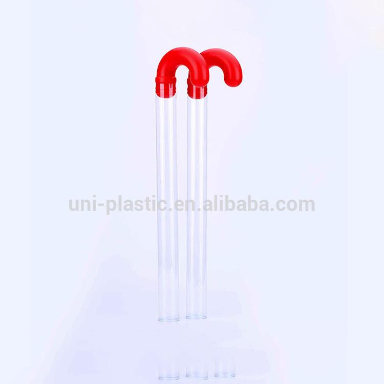 Todo el material está aprobado claro PETG del bastón de caramelo embalaje tubos de ensayo precio