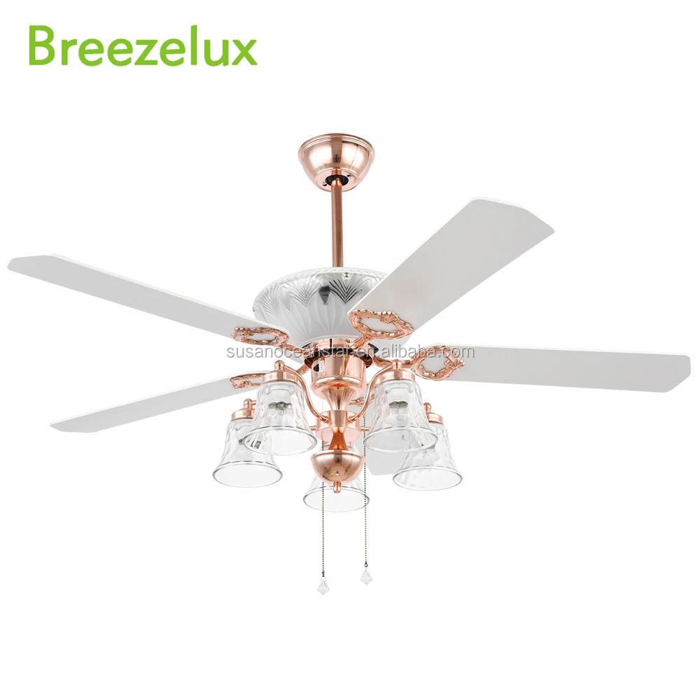 Guapo estilo antiguo <span class=keywords><strong>bronce</strong></span> sin ruido ventilador Orient araña cristal ventilador de techo decorativo