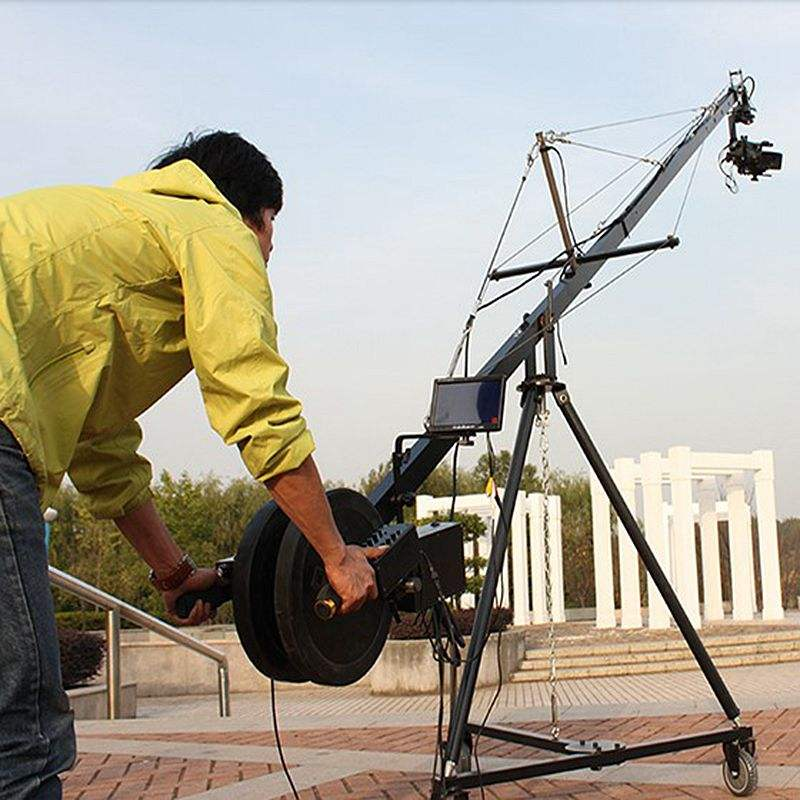 Fuente de la fábrica 10 m 2-eje de <span class=keywords><strong>alta</strong></span> calidad cámara de vídeo Jib Cranes para la venta
