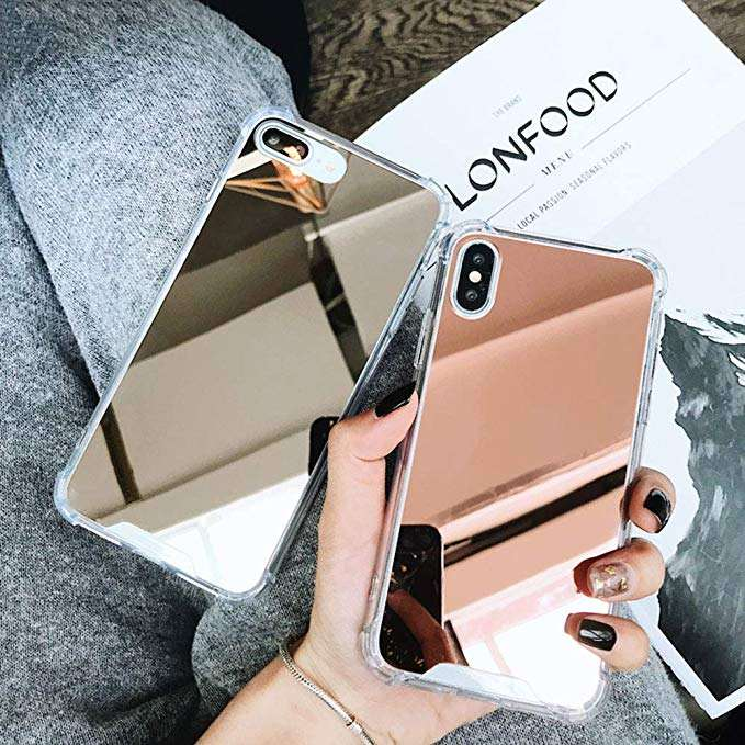 Wholesale High Quality Shook proof Make Up Mirror Hard Back Protective Mobile Phone Cover case for Iphone XR