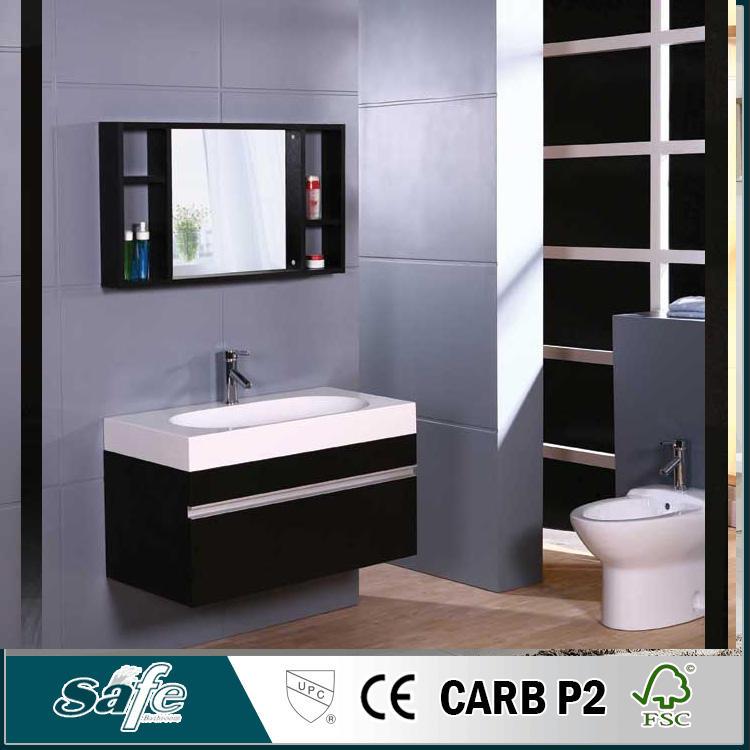 Barato baño ikea muebles de madera maciza gabinete