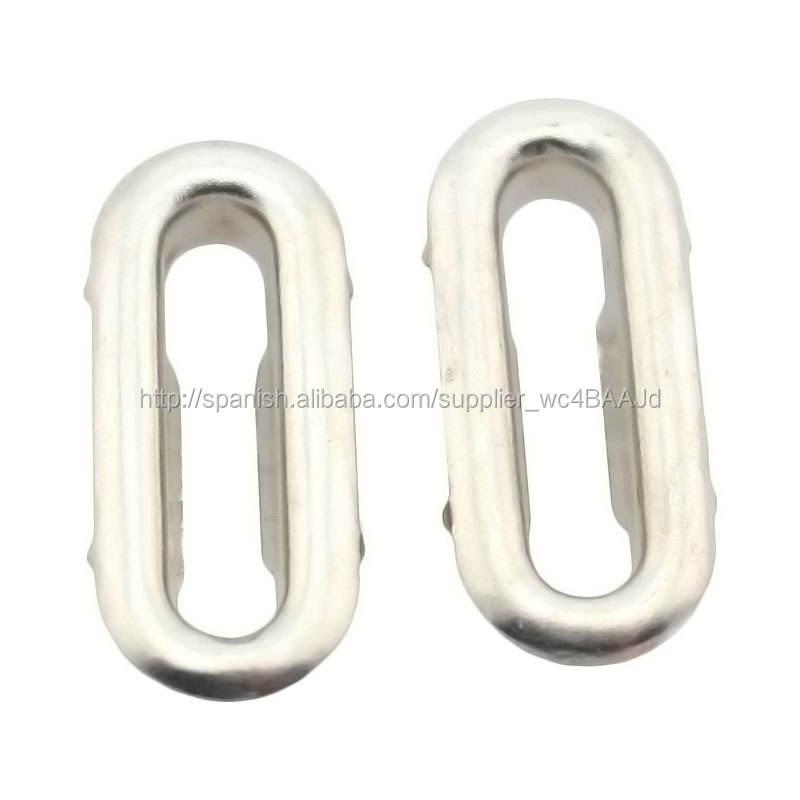 oval eyelet Buena calidad 18mm*4mm ojal ovalada <span class=keywords><strong>de</strong></span> metal ojal para prendas <span class=keywords><strong>de</strong></span> vestir bolso del <span class=keywords><strong>zapato</strong></span>