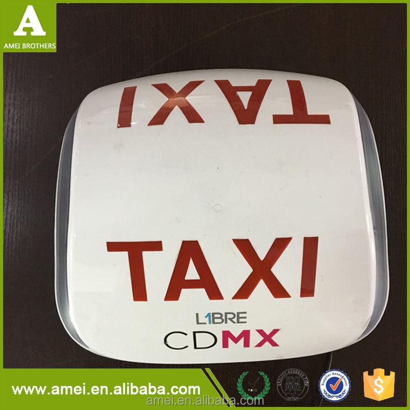 En plastique Thermoformage Publicité Taxi Top Lumière Boîtes