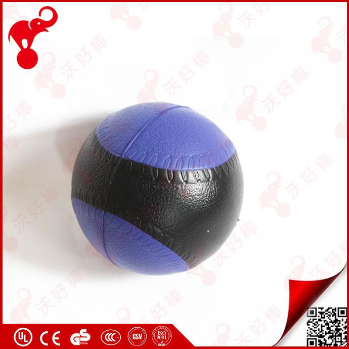 Custom made enfants sport jouet pu mousse anti stress éponge en plastique boules pour aires de jeux