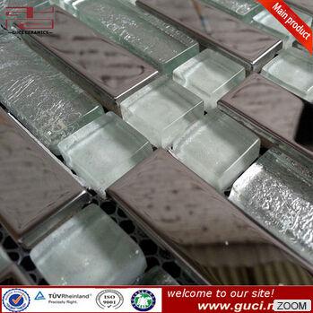 <span class=keywords><strong>platino</strong></span> 300x300 de mosaico de vidrio