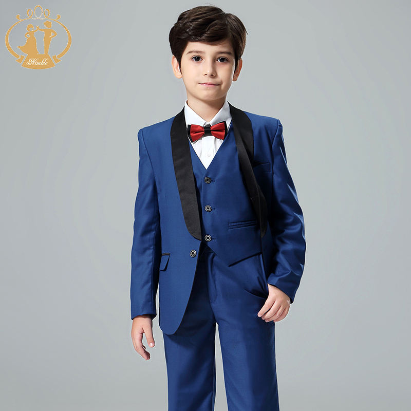 2020 Hot Wholesale Classic Children's Three Piece Set Boys Boutique Clothing Page Boy Outfit For Special Occasion