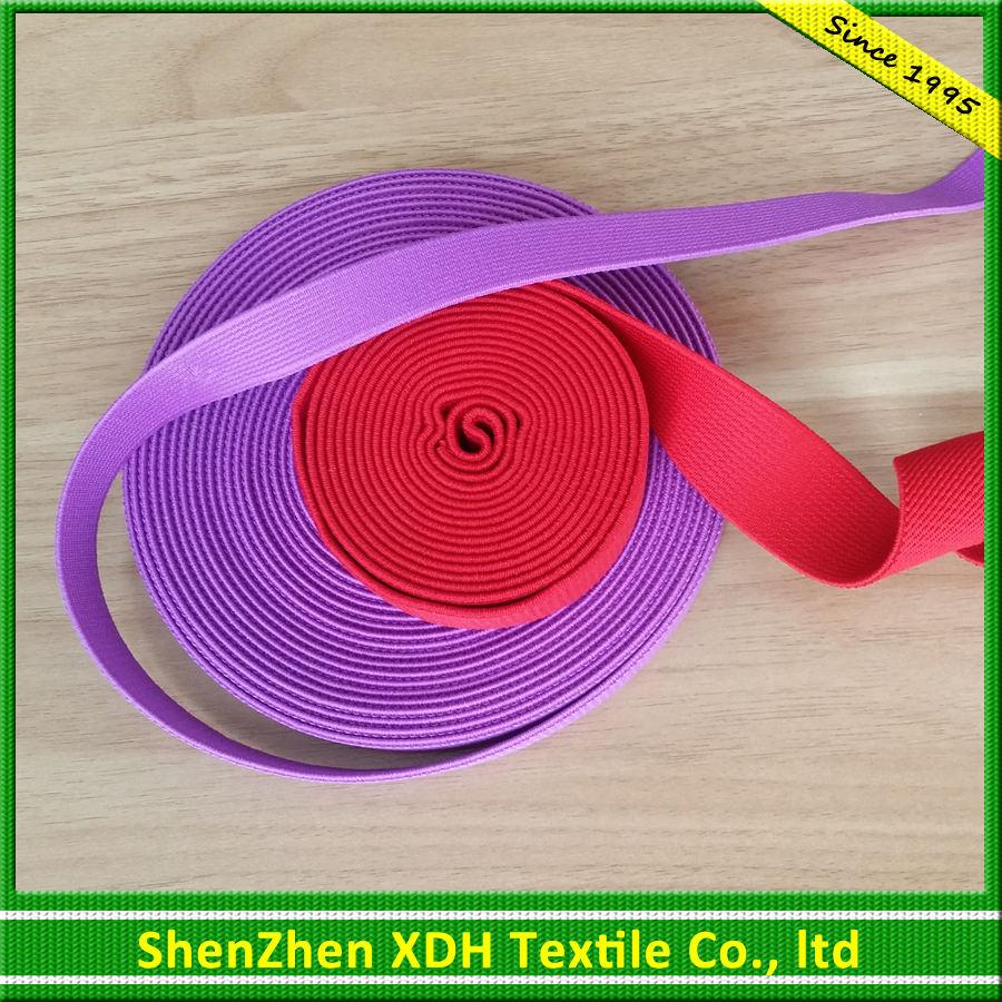 Moda estrecho tejido durable de color banda elastica