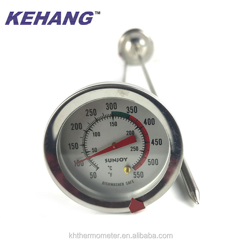 Barato largo sonda BBQ termómetro venta grande