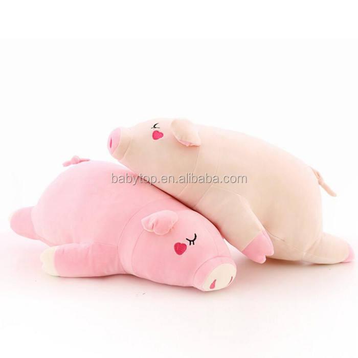 Venta super suave relleno juguete de felpa almohada inflable cerdo