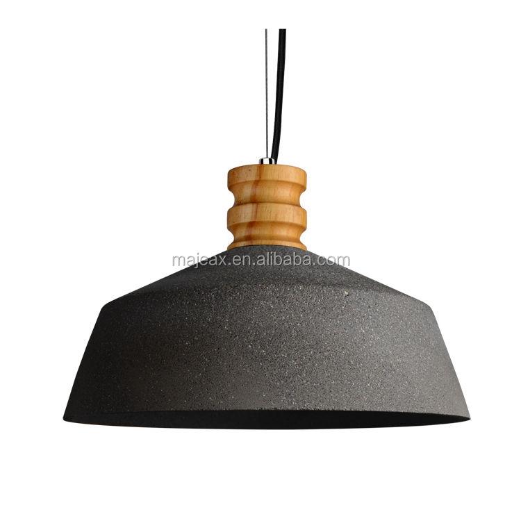 E27 deco droplight lámparas ronda cemento luz utilizada lámpara especificación iluminación