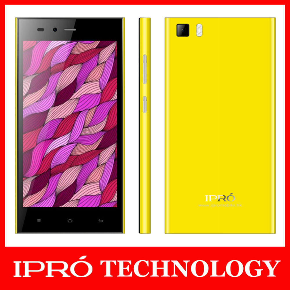 Ipro 5.0 pulgadas MTK6582V/X Quad Core 1.3G ala teléfonos móviles Dual SIM Android 4.4.2 Celulares Smartphone móvil