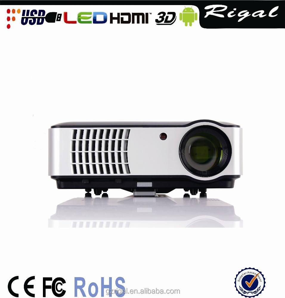 Ultra hd 1080 p led rd-806 proyector, Para el teatro casero ktv proyector conectado con el móvil