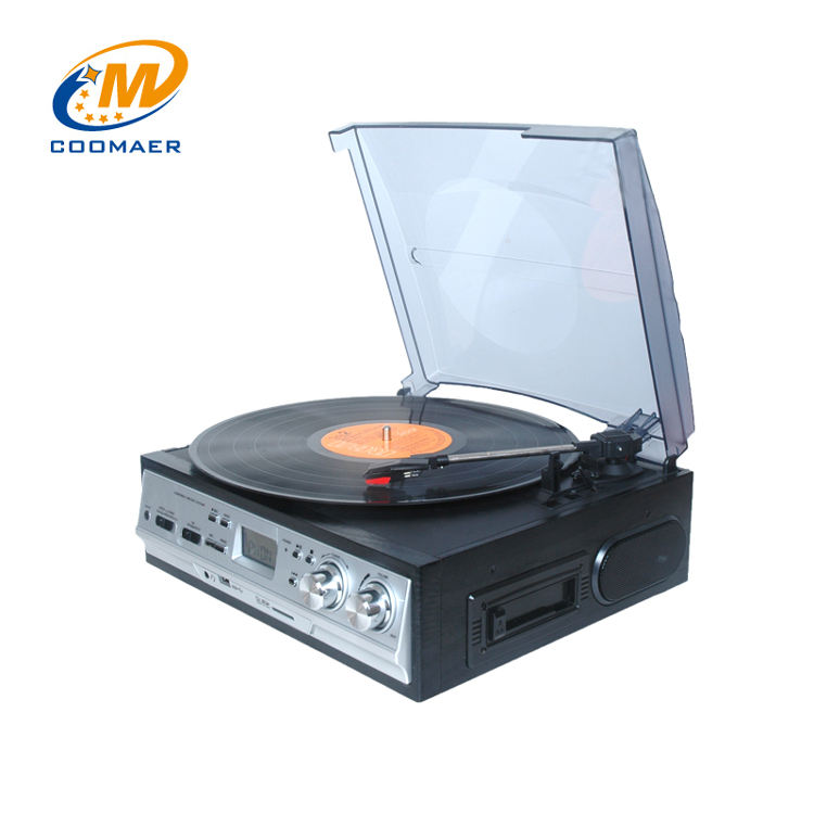 Prix <span class=keywords><strong>de</strong></span> gros Vintage Bois Multiples Radio Cassette Vinyle Gramophone Platine Tourne-Disque