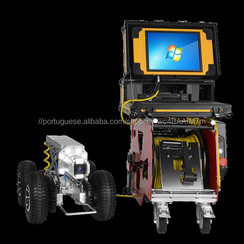 360 grau escondida máquinasdecostura tubulação robot crawer tubo de inspeção câmera de cctv com 625 ptz câmera de cabeça