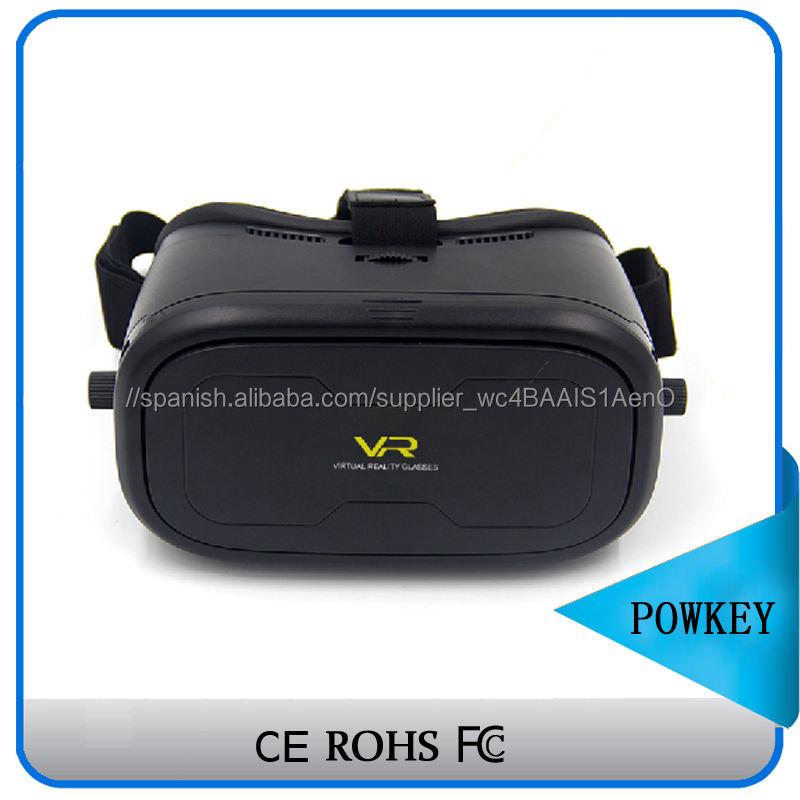 Cuidado del medio ambiente material de calidad caja de vr, sexo porno realidad virtual de vídeo gafas 3D con bluetooth