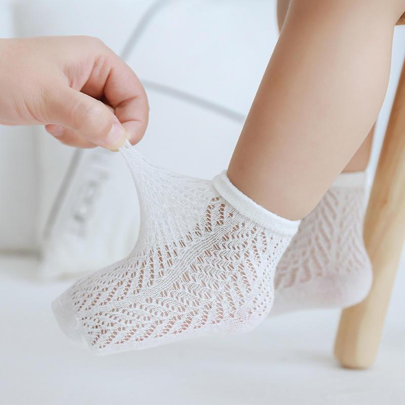 6 видов цветов сетчатые прохладные летние дышащие умные детские розовые носки без шоу