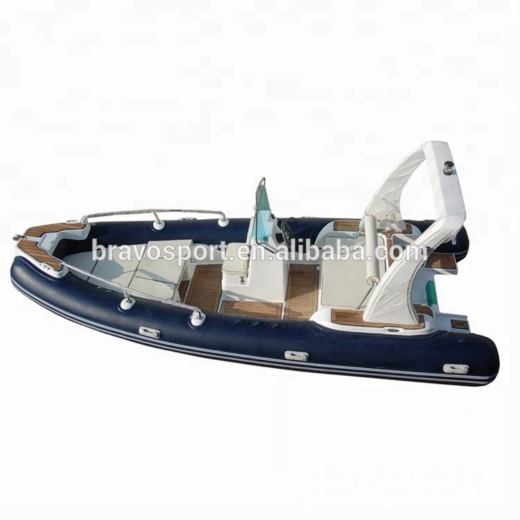 China 600 20ft costilla inflable de fibra de vidrio barco en venta