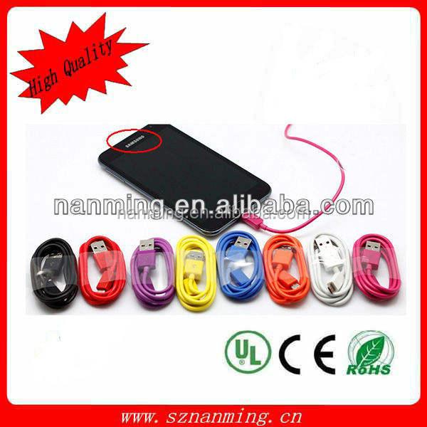 Micro câble USB 5 P téléphone Mobile <span class=keywords><strong>charge</strong></span> 2.0 Data sync chargeur câble