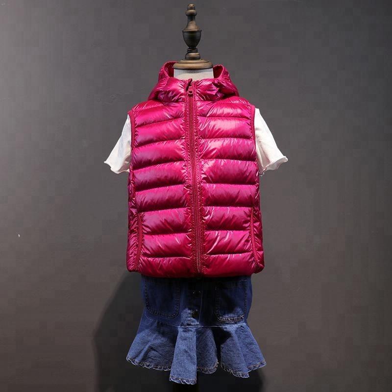 Новинка 2018 г. Детская куртка без рукава вниз жилет