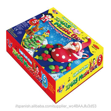 Nuevo Producto Kawaii Caja de Música de <span class=keywords><strong>Navidad</strong></span> Kit de Arcilla Blanda