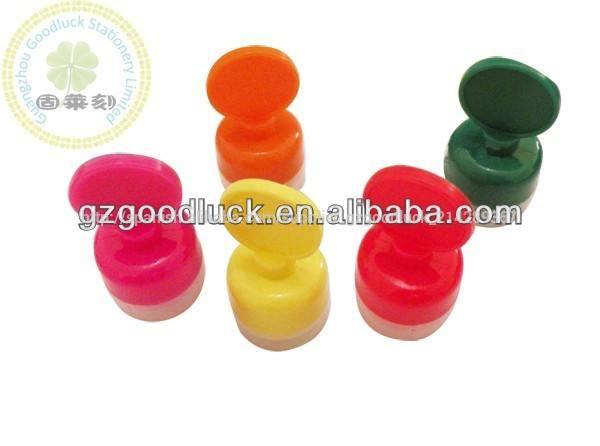 Popular de rodadura de auto- tinta de sello de juguete/todo el colorido rollo de sello en la mano