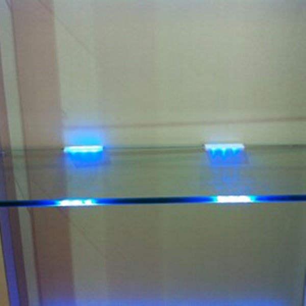 Luces led para el estante de vidrio, el arca de la exposición, pantalla de vidrio de la decoración de la luz